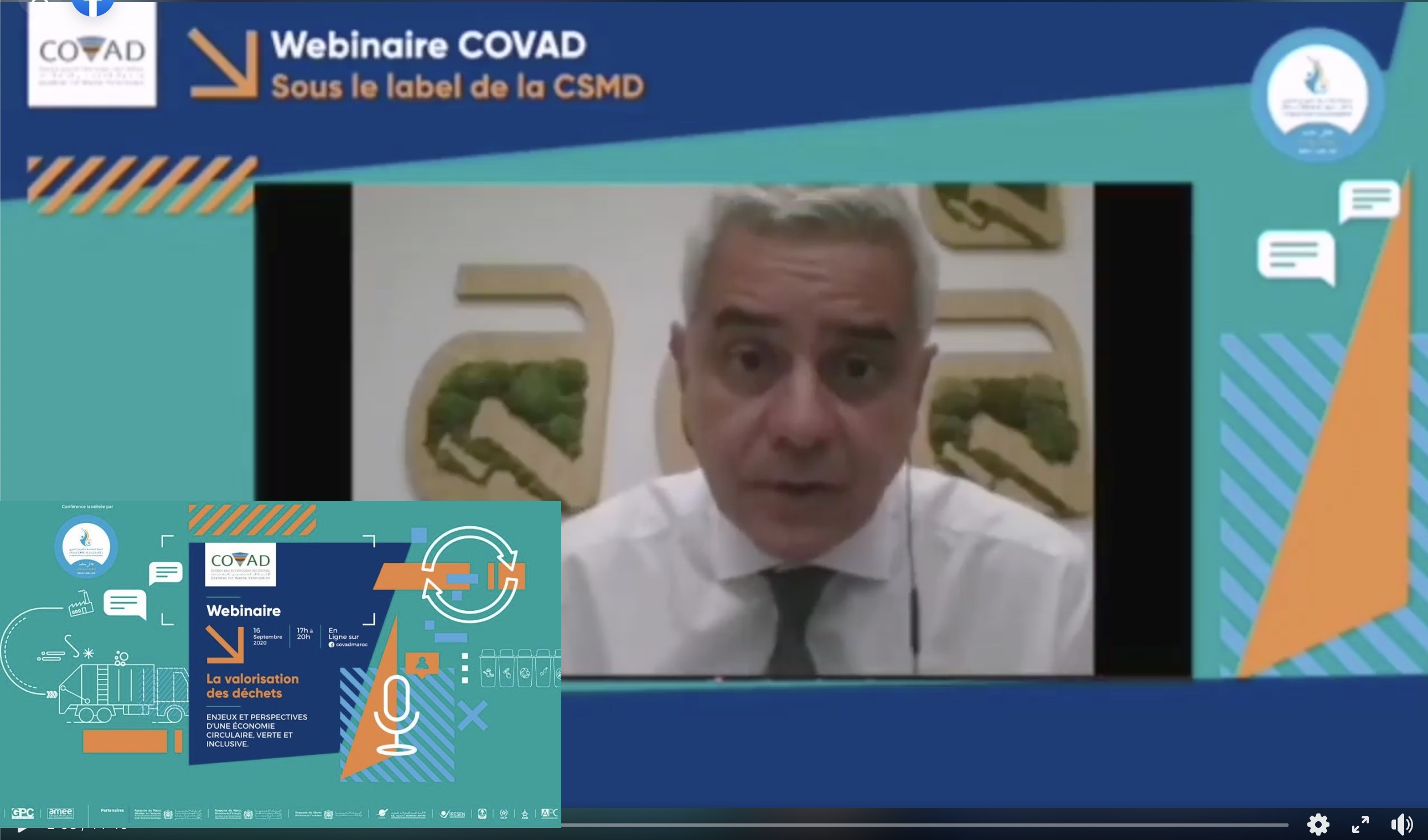 Intervention  de M.Said Mouline au webinaire COVAD